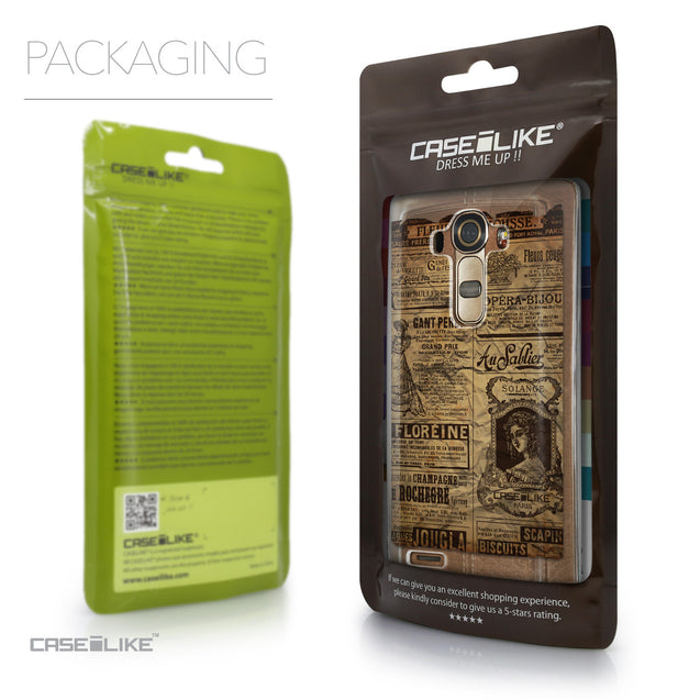 Packaging - CASEiLIKE LG G4 back cover Vintage Newspaper Advertising 4819