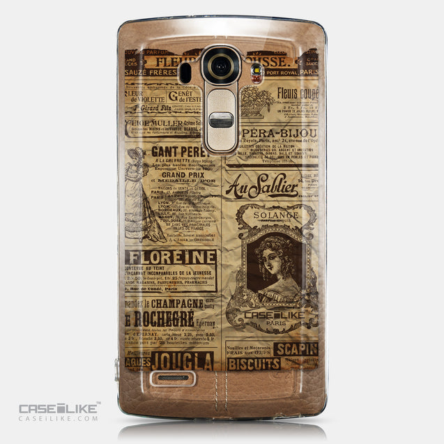 CASEiLIKE LG G4 back cover Vintage Newspaper Advertising 4819