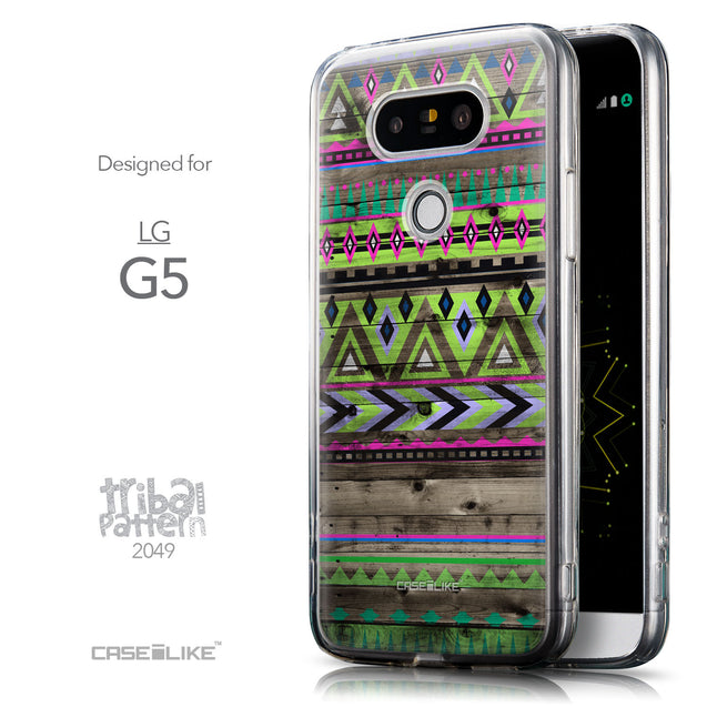 Front & Side View - CASEiLIKE LG G5 back cover Indian Tribal Theme Pattern 2049