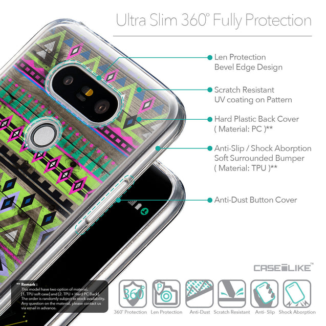 Details in English - CASEiLIKE LG G5 back cover Indian Tribal Theme Pattern 2049