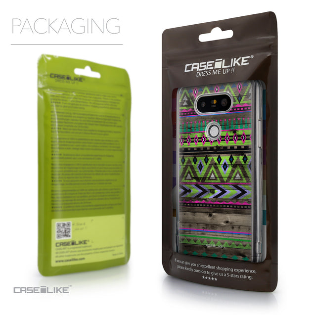 Packaging - CASEiLIKE LG G5 back cover Indian Tribal Theme Pattern 2049