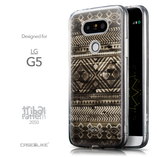 Front & Side View - CASEiLIKE LG G5 back cover Indian Tribal Theme Pattern 2050