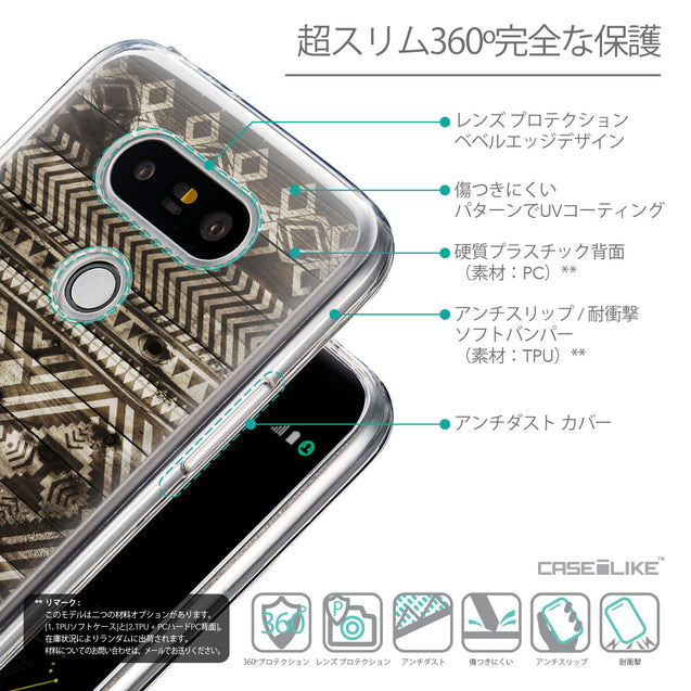 Details in Japanese - CASEiLIKE LG G5 back cover Indian Tribal Theme Pattern 2050