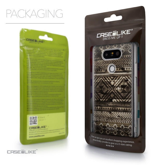 Packaging - CASEiLIKE LG G5 back cover Indian Tribal Theme Pattern 2050
