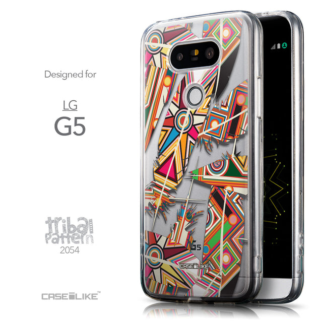 Front & Side View - CASEiLIKE LG G5 back cover Indian Tribal Theme Pattern 2054