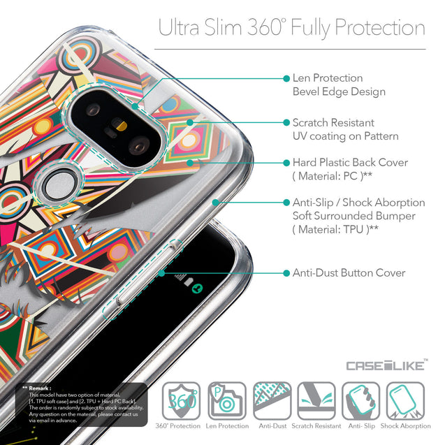 Details in English - CASEiLIKE LG G5 back cover Indian Tribal Theme Pattern 2054
