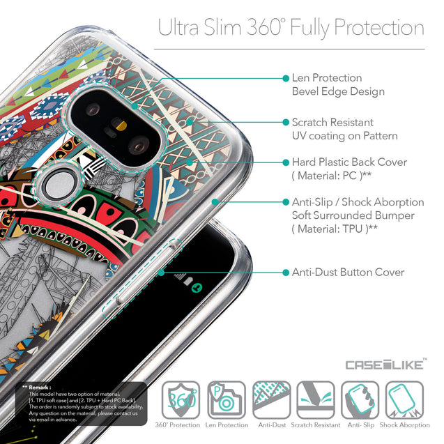 Details in English - CASEiLIKE LG G5 back cover Indian Tribal Theme Pattern 2055