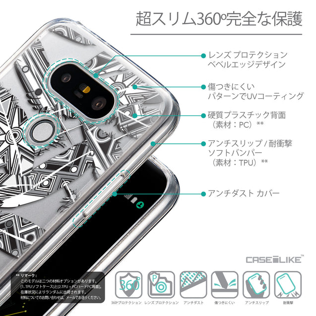 Details in Japanese - CASEiLIKE LG G5 back cover Indian Tribal Theme Pattern 2056