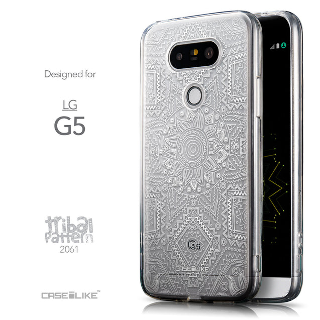 Front & Side View - CASEiLIKE LG G5 back cover Indian Line Art 2061