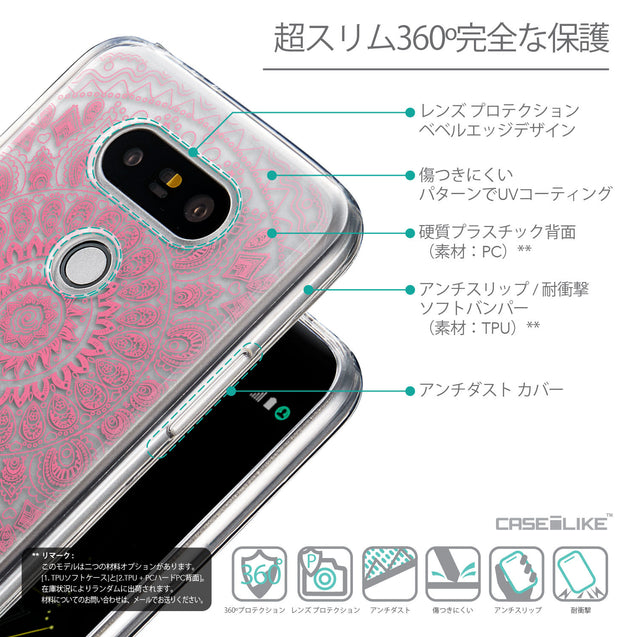 Details in Japanese - CASEiLIKE LG G5 back cover Indian Line Art 2062