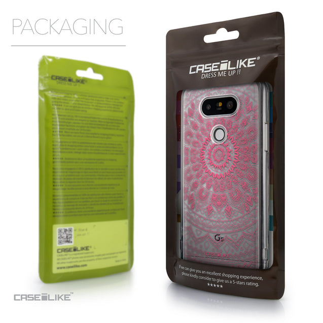 Packaging - CASEiLIKE LG G5 back cover Indian Line Art 2062