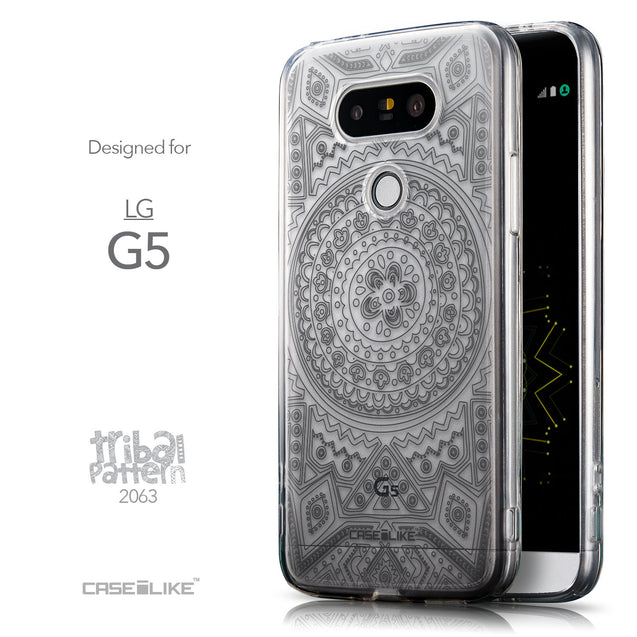 Front & Side View - CASEiLIKE LG G5 back cover Indian Line Art 2063