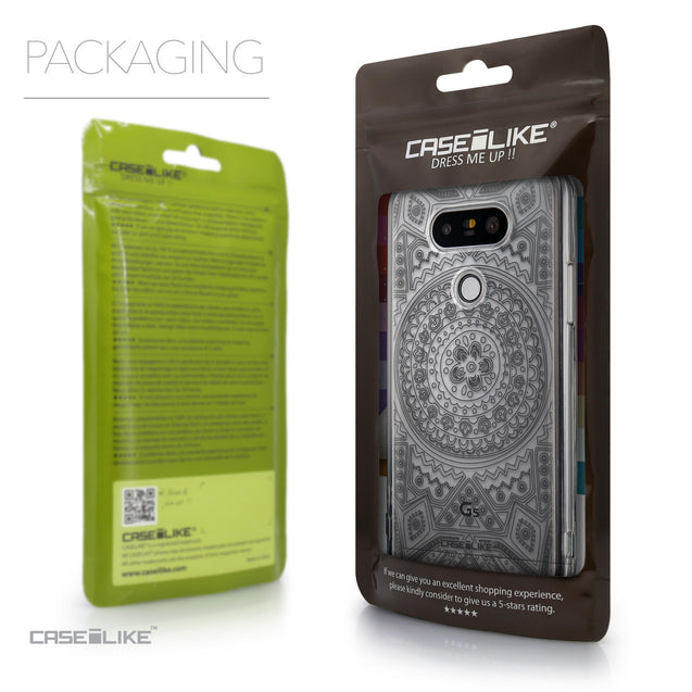 Packaging - CASEiLIKE LG G5 back cover Indian Line Art 2063