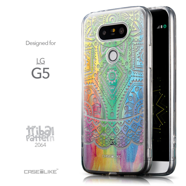 Front & Side View - CASEiLIKE LG G5 back cover Indian Line Art 2064