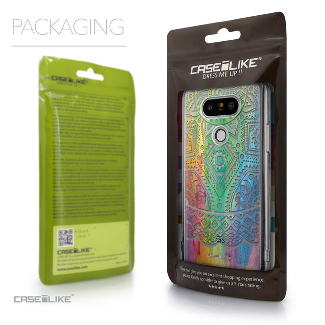 Packaging - CASEiLIKE LG G5 back cover Indian Line Art 2064