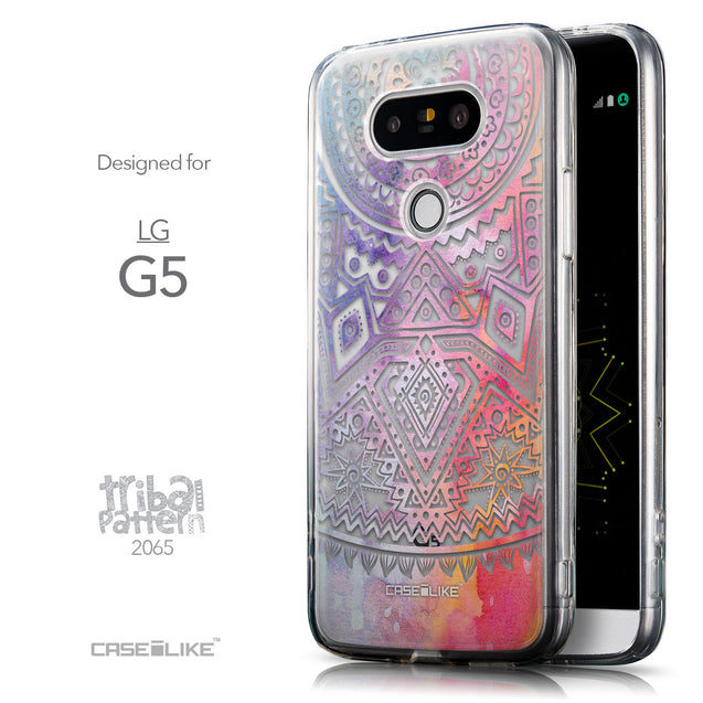 Front & Side View - CASEiLIKE LG G5 back cover Indian Line Art 2065