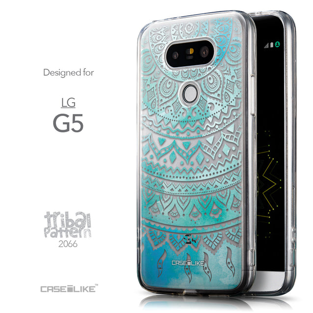 Front & Side View - CASEiLIKE LG G5 back cover Indian Line Art 2066