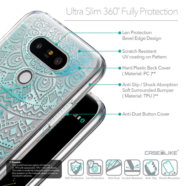 Details in English - CASEiLIKE LG G5 back cover Indian Line Art 2066