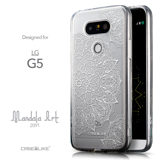 Front & Side View - CASEiLIKE LG G5 back cover Mandala Art 2091