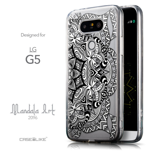 Front & Side View - CASEiLIKE LG G5 back cover Mandala Art 2096