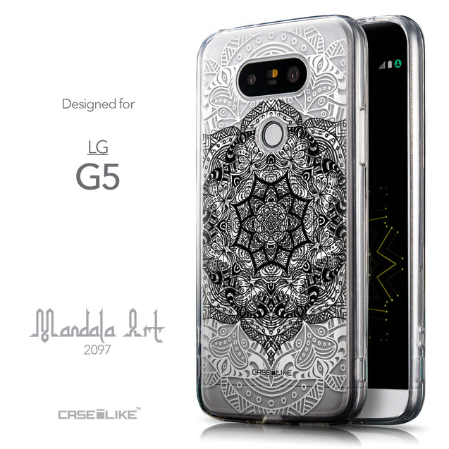 Front & Side View - CASEiLIKE LG G5 back cover Mandala Art 2097