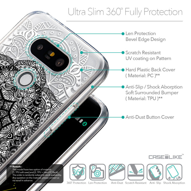 Details in English - CASEiLIKE LG G5 back cover Mandala Art 2097