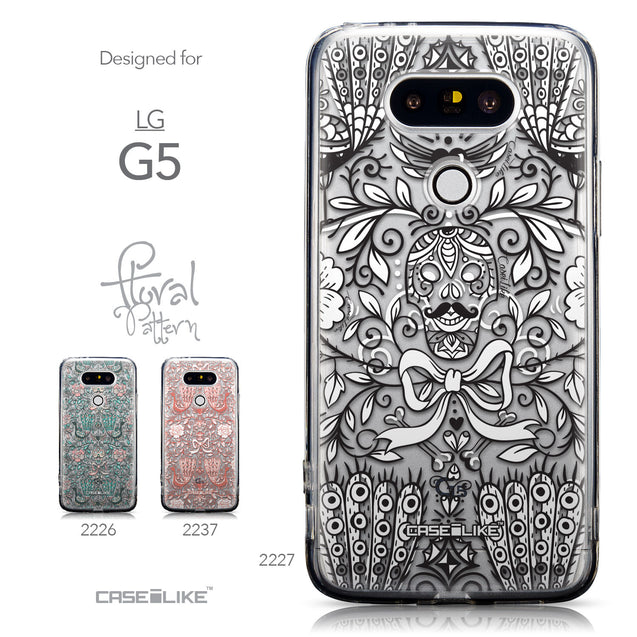 Collection - CASEiLIKE LG G5 back cover Roses Ornamental Skulls Peacocks 2227