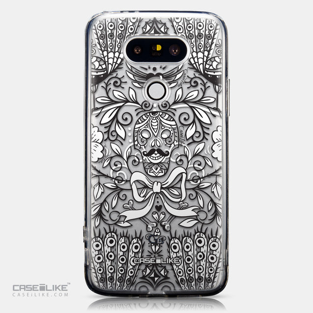 CASEiLIKE LG G5 back cover Roses Ornamental Skulls Peacocks 2227