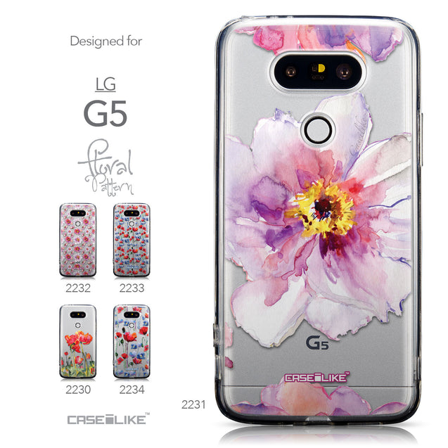 Collection - CASEiLIKE LG G5 back cover Watercolor Floral 2231