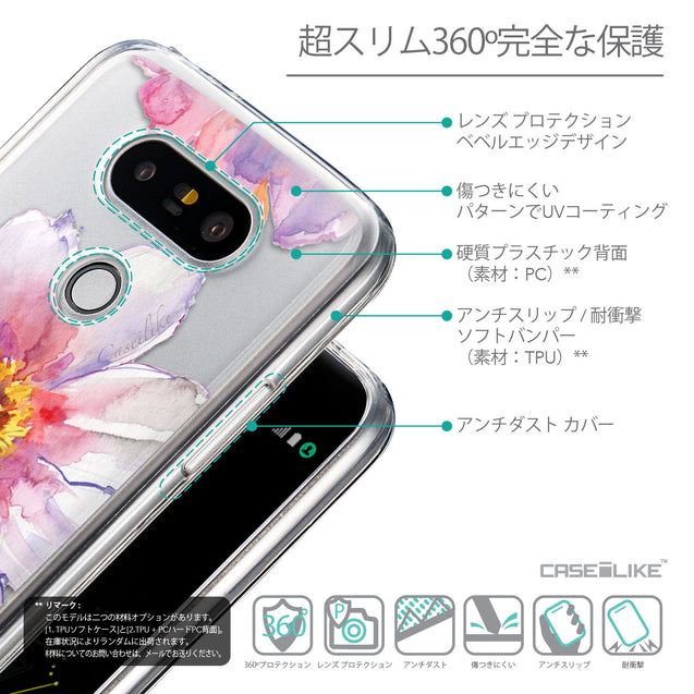 Details in Japanese - CASEiLIKE LG G5 back cover Watercolor Floral 2231
