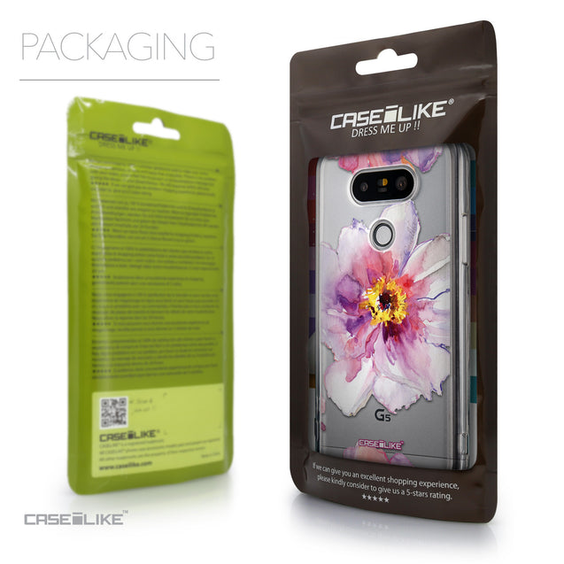 Packaging - CASEiLIKE LG G5 back cover Watercolor Floral 2231