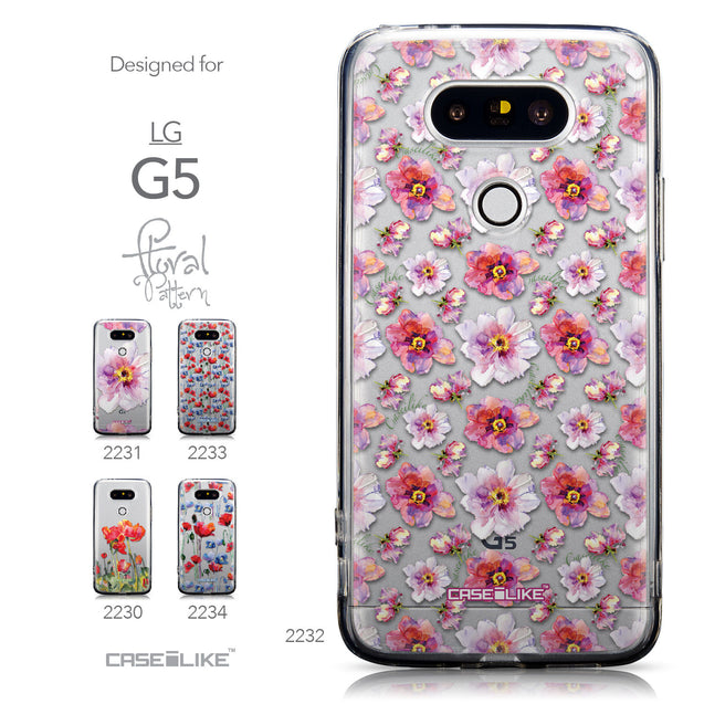 Collection - CASEiLIKE LG G5 back cover Watercolor Floral 2232