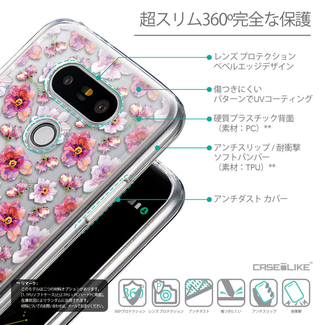 Details in Japanese - CASEiLIKE LG G5 back cover Watercolor Floral 2232