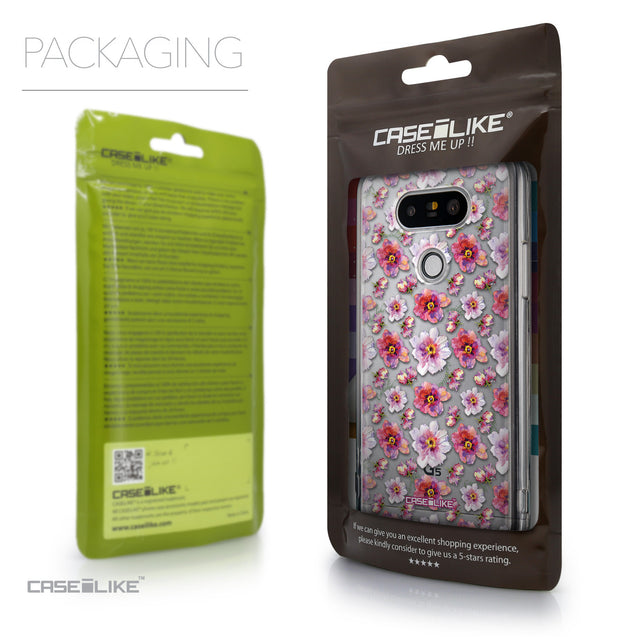 Packaging - CASEiLIKE LG G5 back cover Watercolor Floral 2232