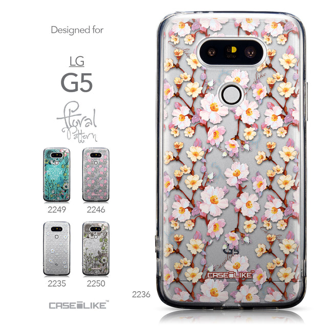 Collection - CASEiLIKE LG G5 back cover Watercolor Floral 2236
