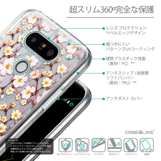 Details in Japanese - CASEiLIKE LG G5 back cover Watercolor Floral 2236