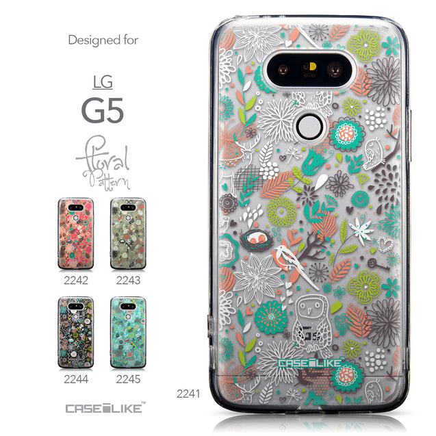 Collection - CASEiLIKE LG G5 back cover Spring Forest White 2241
