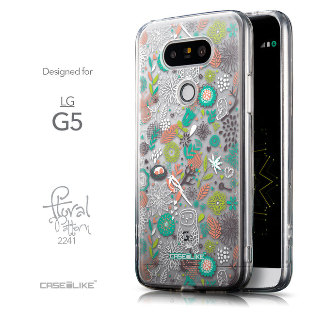 Front & Side View - CASEiLIKE LG G5 back cover Spring Forest White 2241