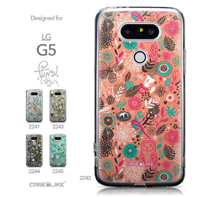 Collection - CASEiLIKE LG G5 back cover Spring Forest Pink 2242