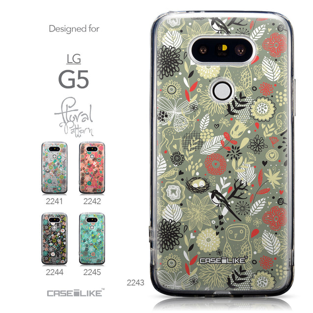 Collection - CASEiLIKE LG G5 back cover Spring Forest Gray 2243