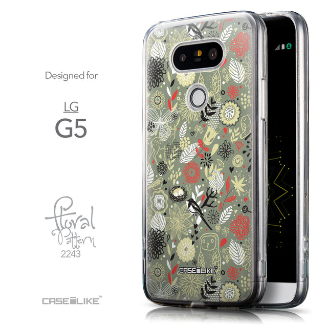 Front & Side View - CASEiLIKE LG G5 back cover Spring Forest Gray 2243