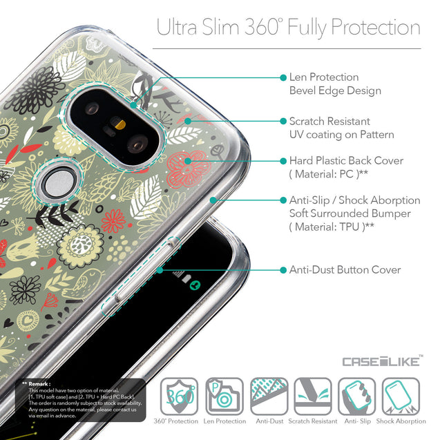 Details in English - CASEiLIKE LG G5 back cover Spring Forest Gray 2243