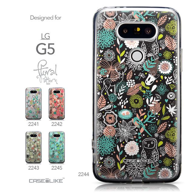Collection - CASEiLIKE LG G5 back cover Spring Forest Black 2244