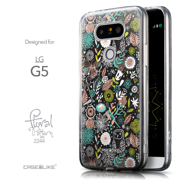 Front & Side View - CASEiLIKE LG G5 back cover Spring Forest Black 2244