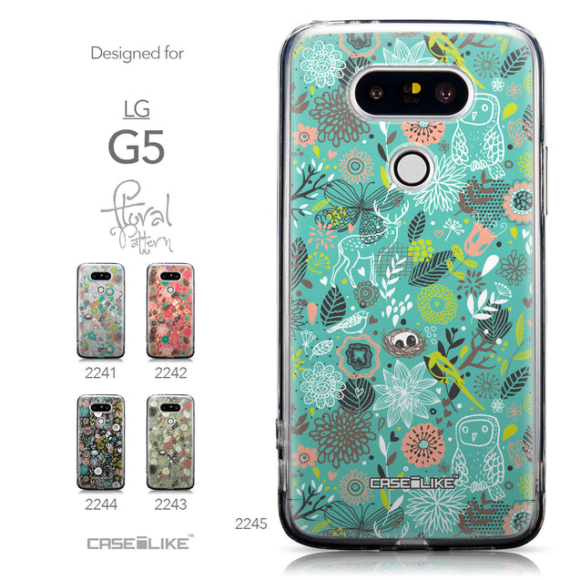Collection - CASEiLIKE LG G5 back cover Spring Forest Turquoise 2245