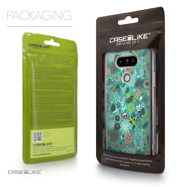Packaging - CASEiLIKE LG G5 back cover Spring Forest Turquoise 2245
