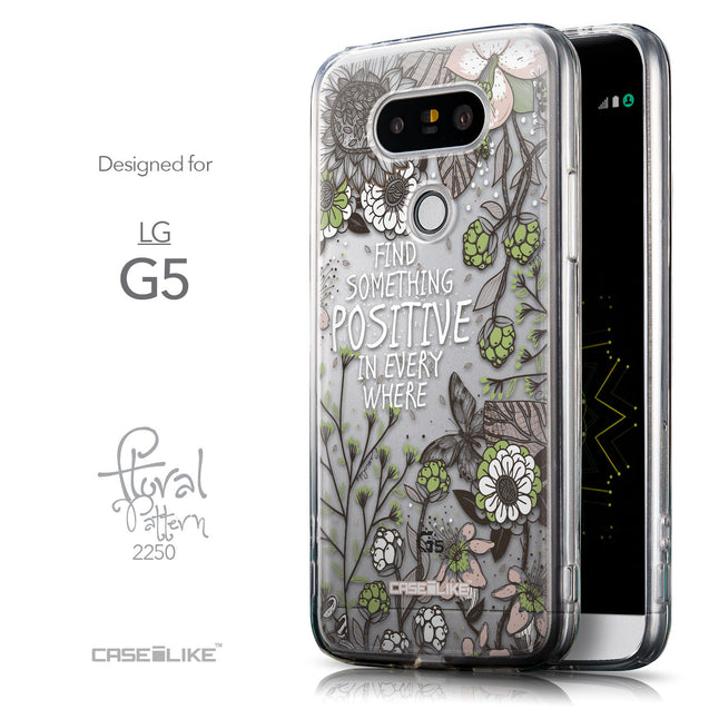 Front & Side View - CASEiLIKE LG G5 back cover Blooming Flowers 2250