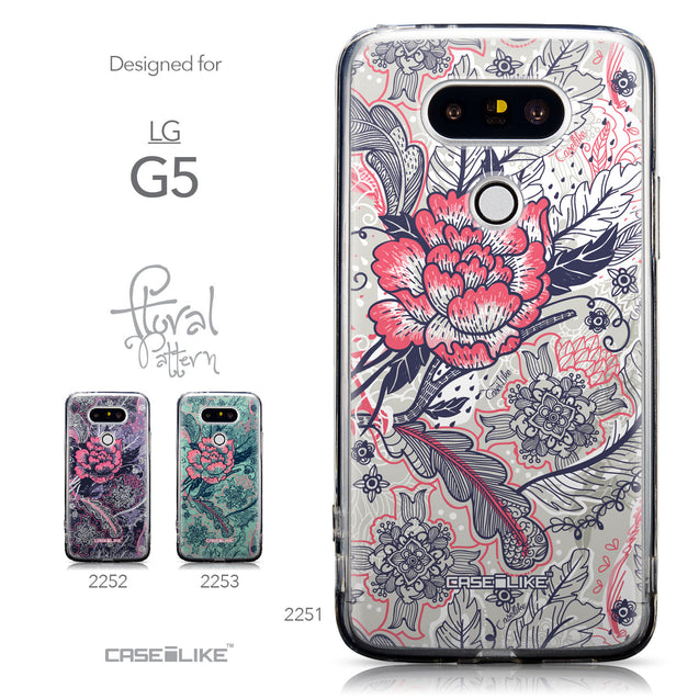 Collection - CASEiLIKE LG G5 back cover Vintage Roses and Feathers Beige 2251