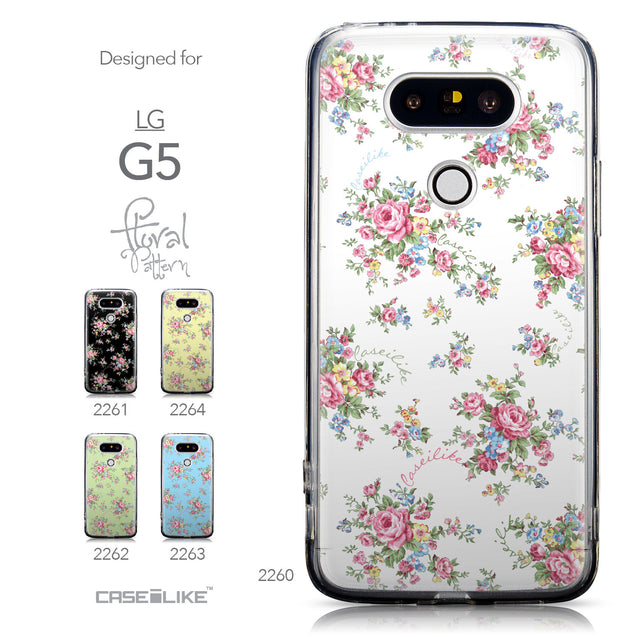 Collection - CASEiLIKE LG G5 back cover Floral Rose Classic 2260