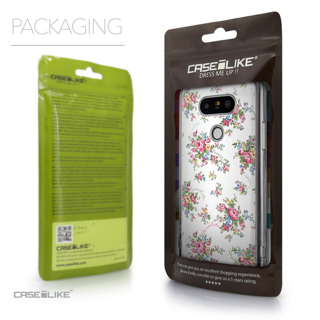 Packaging - CASEiLIKE LG G5 back cover Floral Rose Classic 2260